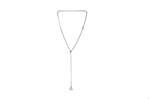 T-Bar Necklace Silver