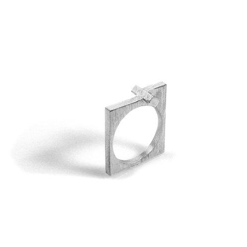 Cross Flat Ring in Silver