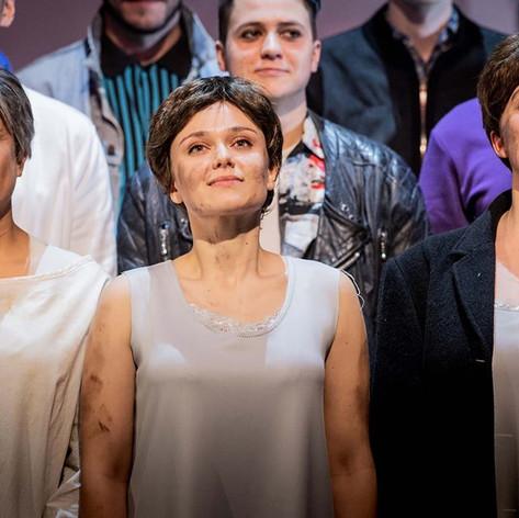 'Curtain call for Dialogues des Carmelites' (role - Blanche de la Force)