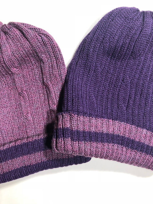 Reversible Double Knit Hats