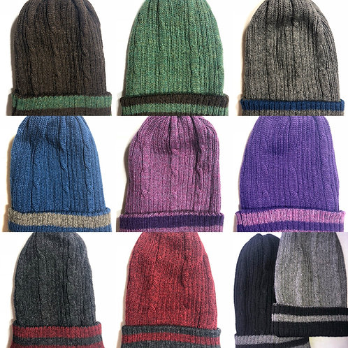 100% Reversible Double Knit Hats