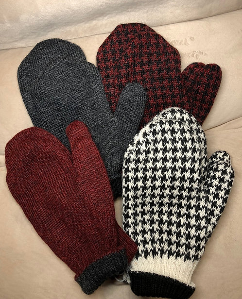 100% Double Knit Reversible Mittens