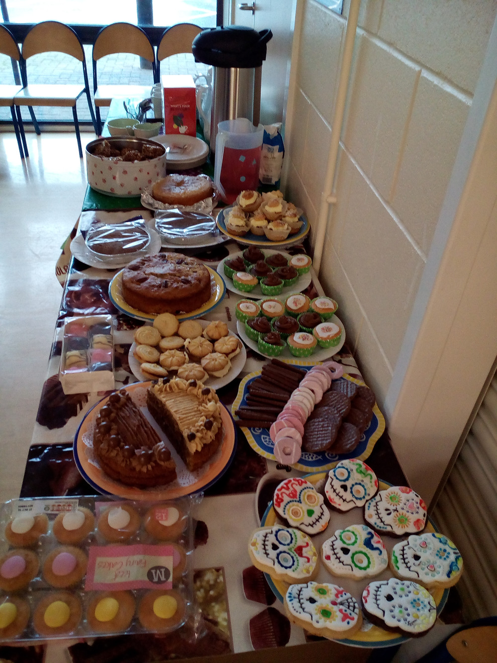 All our lovely cakes for our coffee morning.