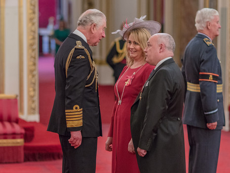 Wendy Maisey receives OBE at Buckingham Palace