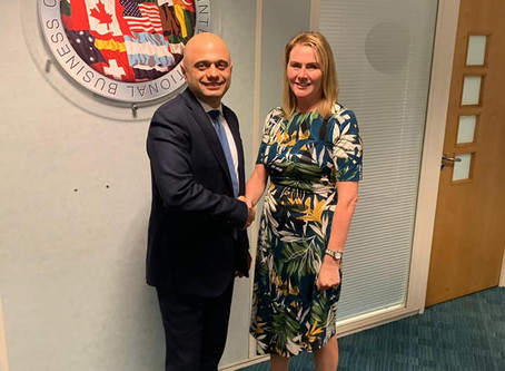 Wendy meets Sajid Javid, Chancellor of the Exchequer
