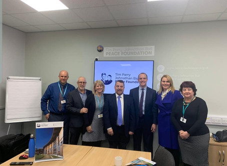 Wendy visits the Peace Centre with Foreign Secretary Dominic Raab
