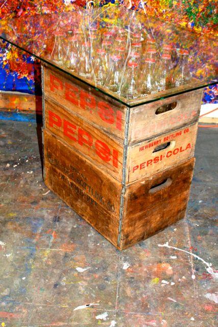 AMERICANA PEPSI -vintage crate table
