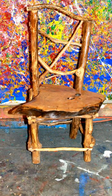 Handmade wooden chairs