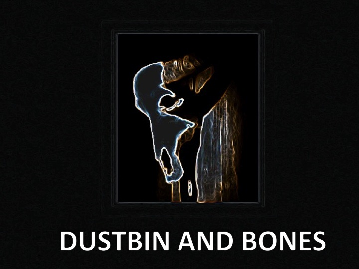 Dustbin and bones logo