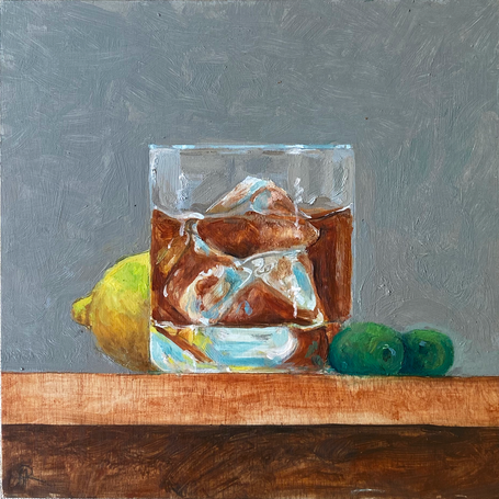 Small paintings for a kitchen - scotch lemon olives