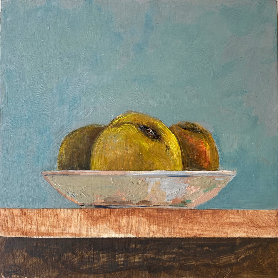 Small paintings for a kitchen - 3 peaches