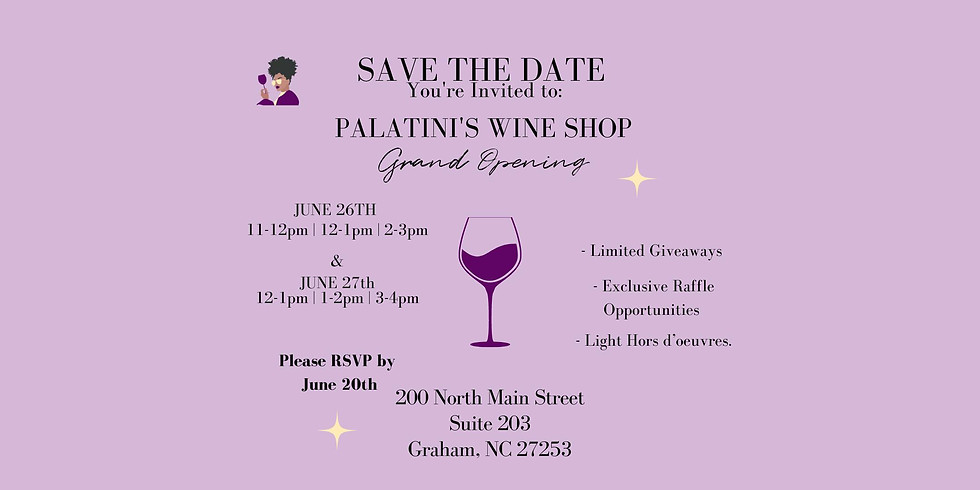 Palatini's In-Store Grand Opening