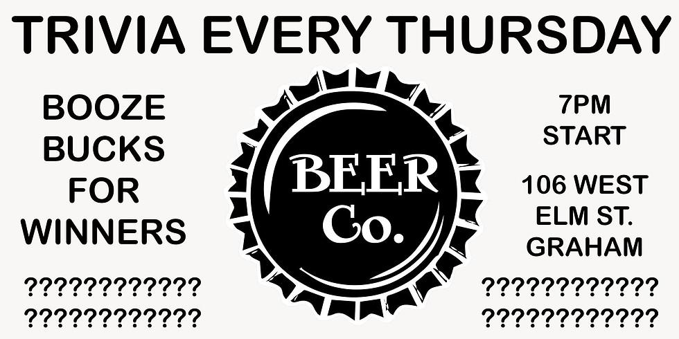 Thursday Trivia at Beer Co.