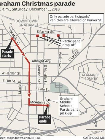 Graham Christmas Parade Map
