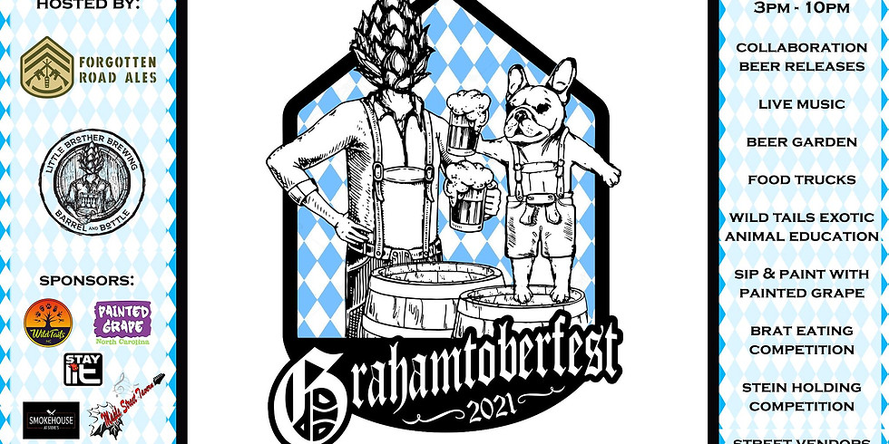 Grahamtoberfest September 25th hosted by Little Brother Brewing and Forgotten Road Ales!