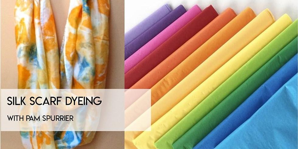 Silk Scarf Dyeing w/Tissue Paper