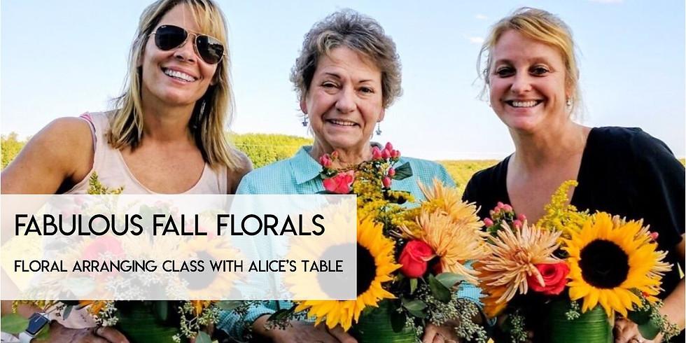 Fabulous Florals Floral Arranging Class