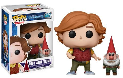 Pop! Television Trollhunters Vinyl Figure Toby with Gnome #467 (Vaulted)