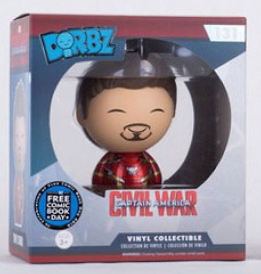Dorbz Civil War Tony Stark Free Comic Book day Exclusive Figure #131