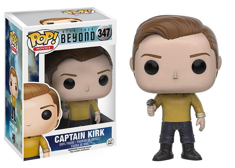 Pop! Movies Star Trek Beyond Vinyl Figure Captain Kirk #347 (Vaulted)