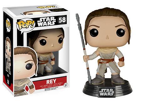 Pop! Star Wars The Force Awakens Vinyl Bobble-Head Rey #58 (Vaulted)