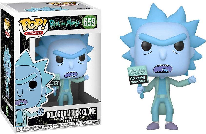 Pop! Animation Rick and Morty Vinyl Figure Hologram Rick Clone #659