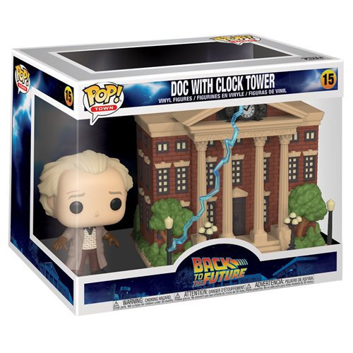 Pop! Town Movies Back to the Future Vinyl Figure Doc with Clock Tower #15