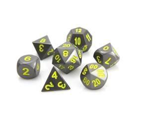 Die Hard Metal RPG Dice (Gunmetal W/Yellow)