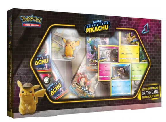 Pokemon Detective Pikachu On The Case Figure Collection Box