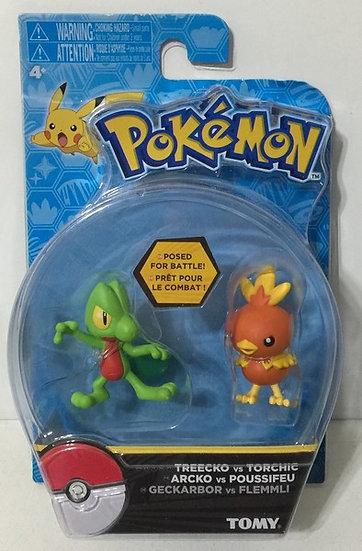 Pokemon Action Pose Treecko & Torchic Confined 2-Inch Mini Figure 2-Pack