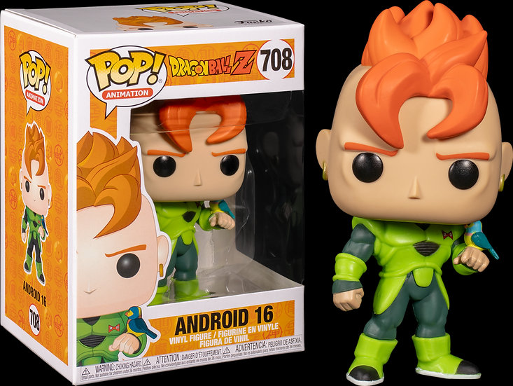 Pop! Animation Dragon Ball Z Vinyl Figure Android 16 #708