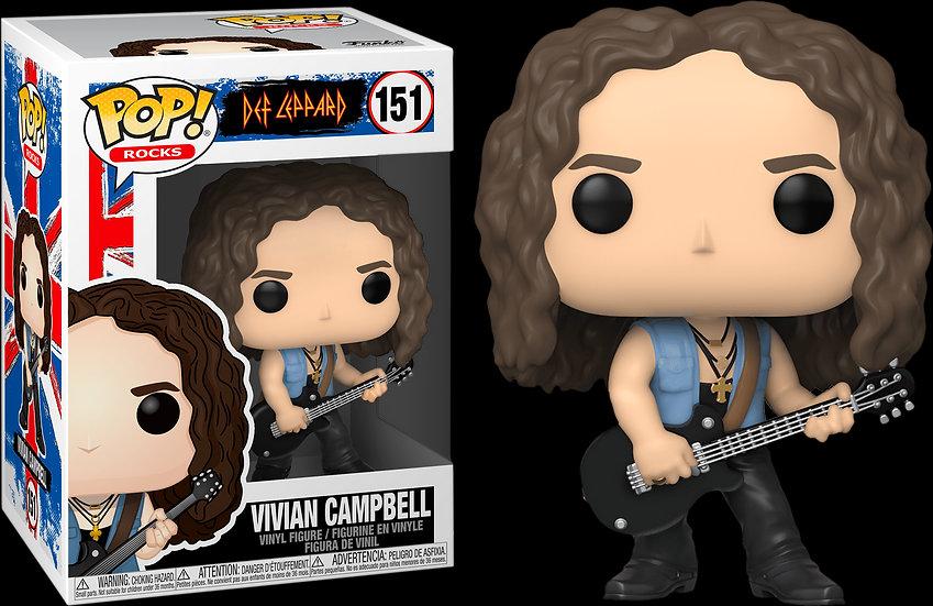 Pop! Rocks Def Leppard Vinyl Figure Vivian Campbell #151
