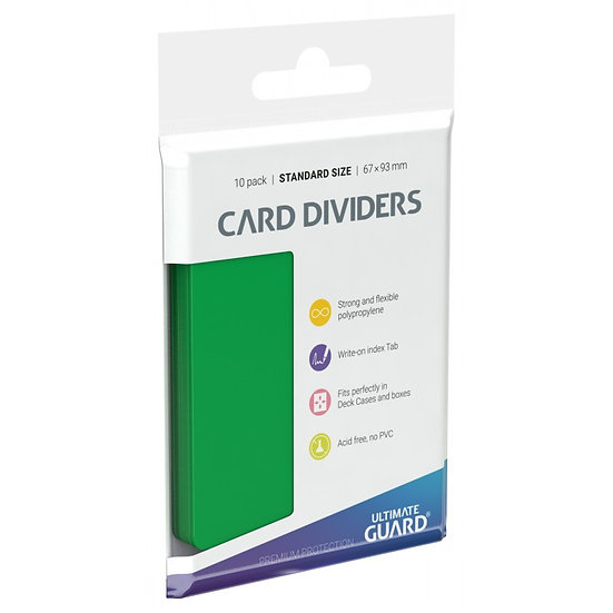 Ultimate Guard Card Dividers Green 10 Pack