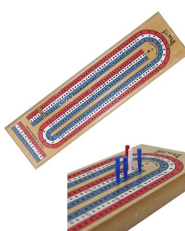 3 Lane Color Wood Crib Board - Pine