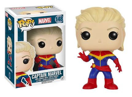 Pop! Marvel Vinyl Bobble-Head Captain Marvel #148 (Vaulted)