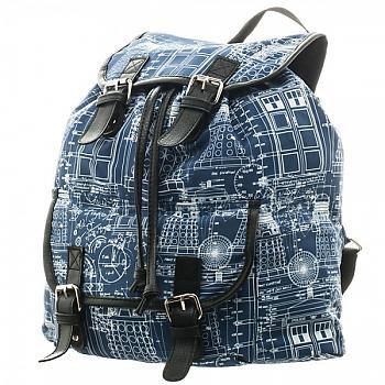 Doctor Who Backpack - Blue Print Sublimated Knapsack