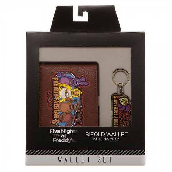 Five Nights At Freddy's Bifold Wallet & Keychain Set