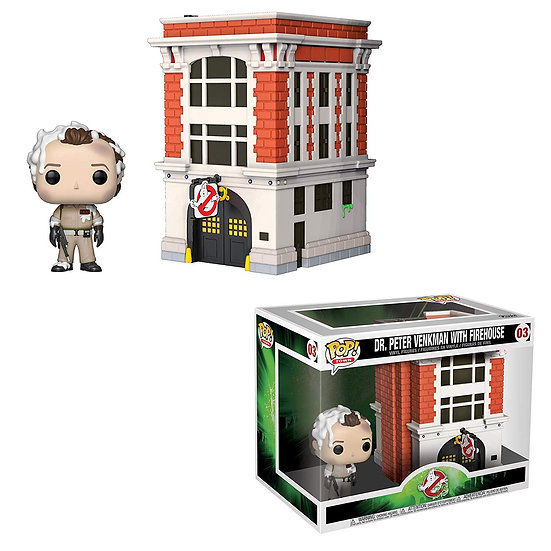 Pop! Town Ghostbusters Vinyl Figure Dr. Peter Venkman with Firehouse #03