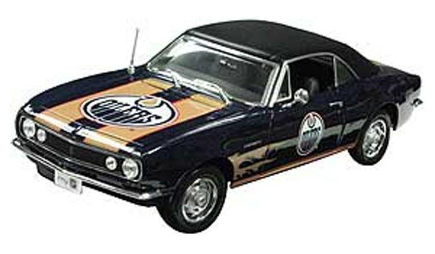 Edmonton Oilers 1967 Chevrolet Camaro 1:18 Scale Top Dog NHL Die Cast Model