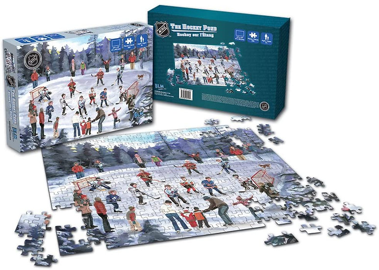 BLM Games B2-00129 NHL The Hockey Pond Puzzle 300 Piece