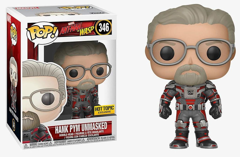 Pop! Marvel Ant-Man and the Wasp Vinyl Bobble-Head Hank Pym Unmasked #346