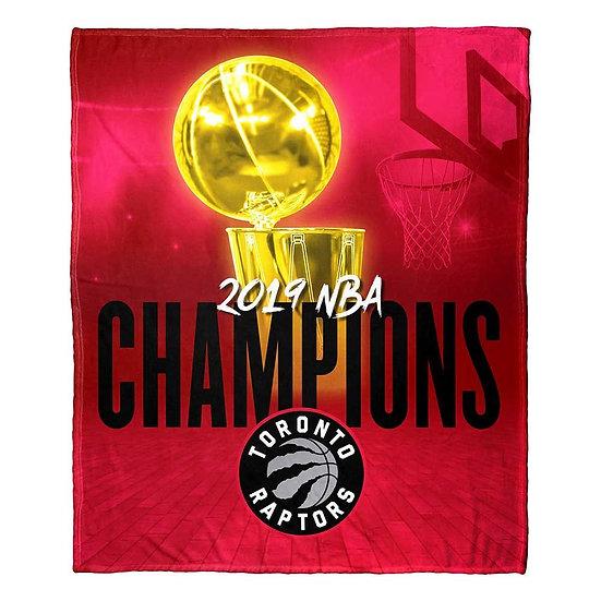Toronto Raptors NBA 2019 Champions HD Silk Touch Throw Blanket