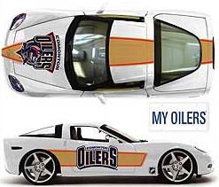 Edmonton Oilers 1:18 Scale Corvette Coupe