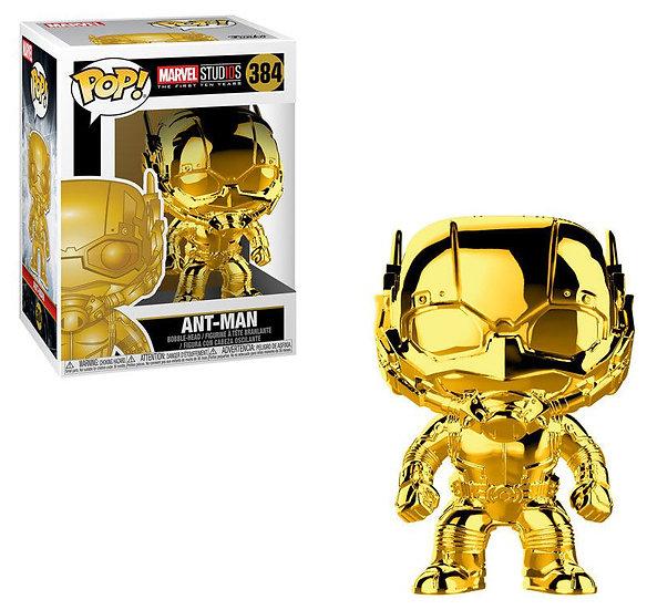 Pop! Marvel Studios The First Ten Year Ant-Man (Gold Chrome) #384