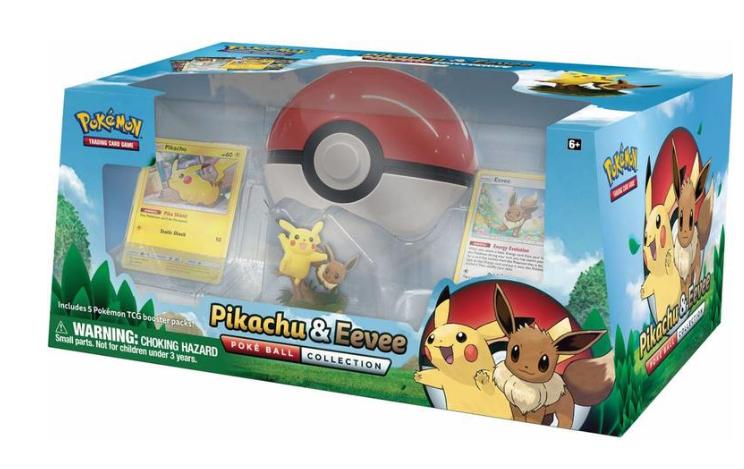 Pokemon TCG Pikachu & Eevee Pokeball Collection