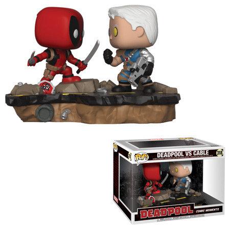 Pop! Marvel Comic Moments Vinyl Bobble-Head Deadpool vs. Cable #318