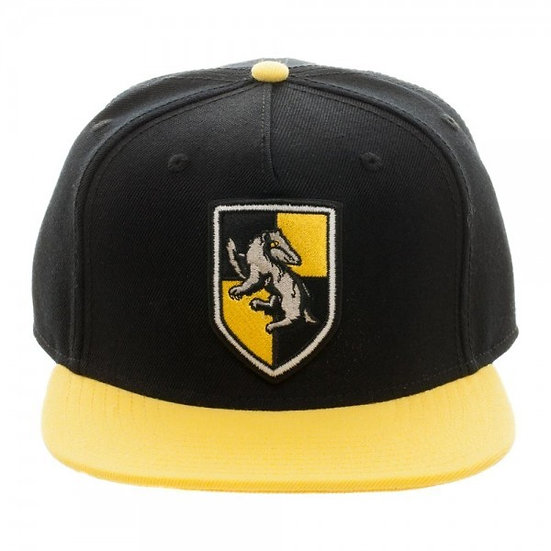 Bioworld Harry Potter Hufflepuff Crest Snapback Hat