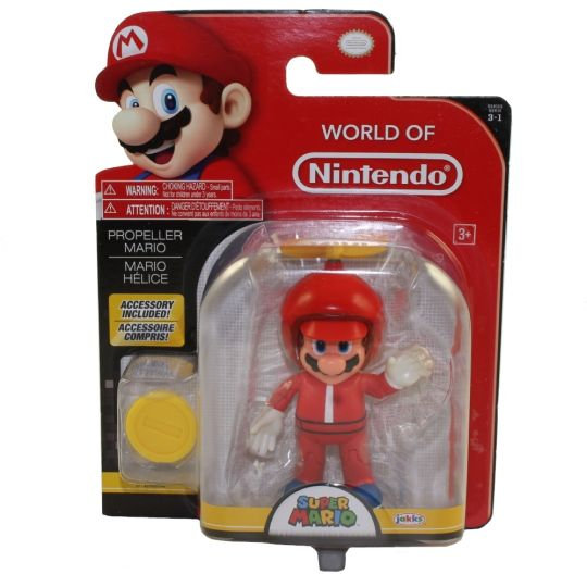 Jakks Pacific Toys - World of Nintendo Wave 13 Figure - PROPELLER MARIO w/ Coin