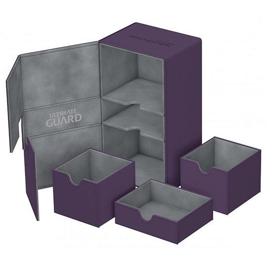 Ultimate Guard Purple Twin Flip'n'Tray™ 200+ XenoSkin™