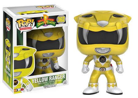 Pop! Television Power Rangers Vinyl Figure Yellow Ranger #362 (Vaulted)